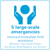 5 large-scale emergencies received immediate field assistance