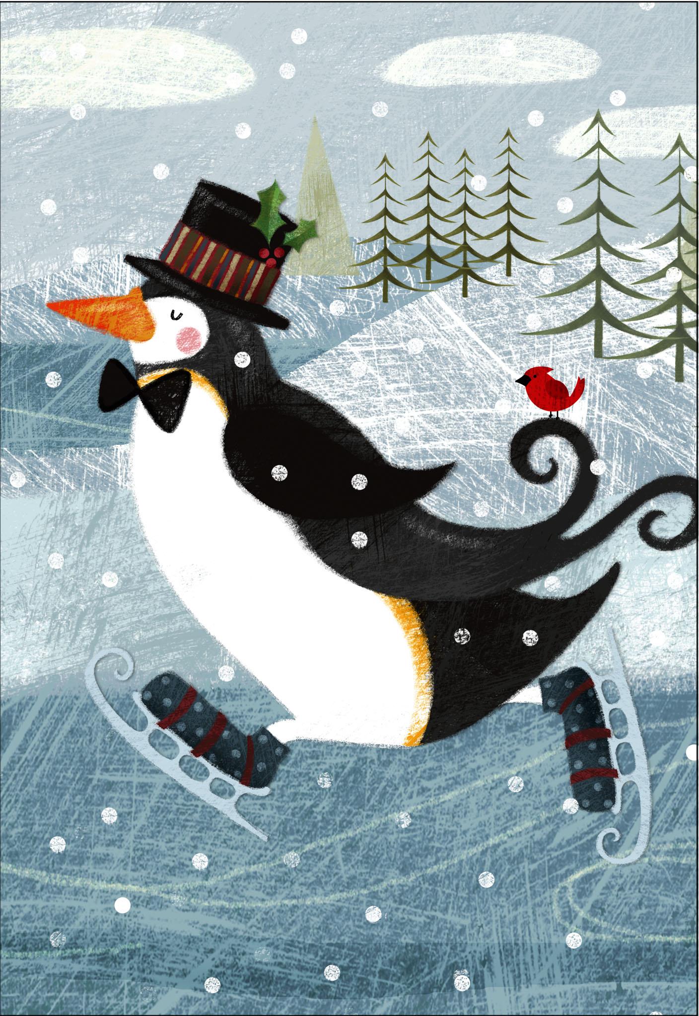 Открытка в виде пингвина