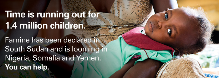 Nearly 1.4 million children are suffering from severe malnutrition in the region. You can help