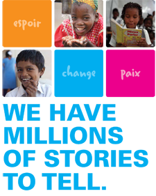 At UNICEF Canada, we have millions of stories to tell.