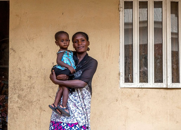 Maryamu holds her daughter Hyladan in a camp for internally displaced people in Adamawa, Nigeria.
