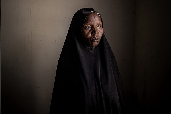 Nigerian Kaltum Mallamgrema, displaced by conflict to the city of Maiduguri, did not receive antenatal care.