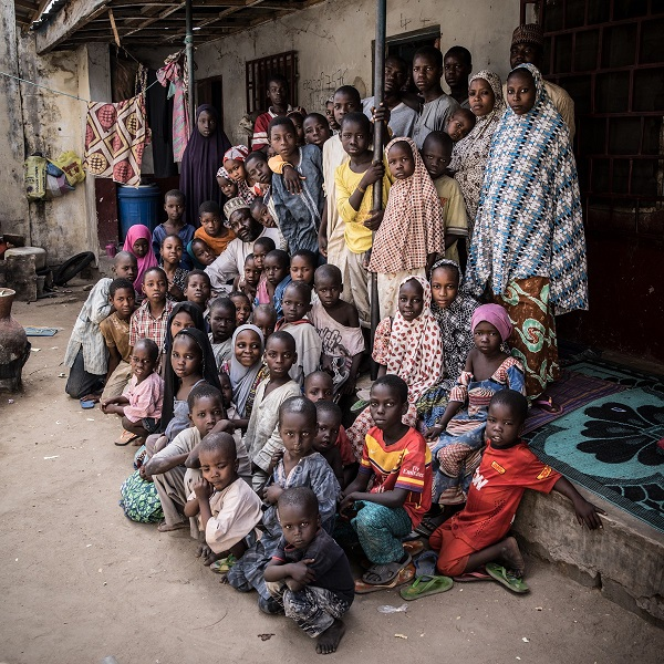 Mustafa Mala's family in Nigeria has been displaced to Maiduguri by conflict.