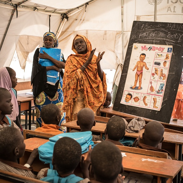 During emergencies, education can help restore a sense of stability and hope for the future in Nigeria.
