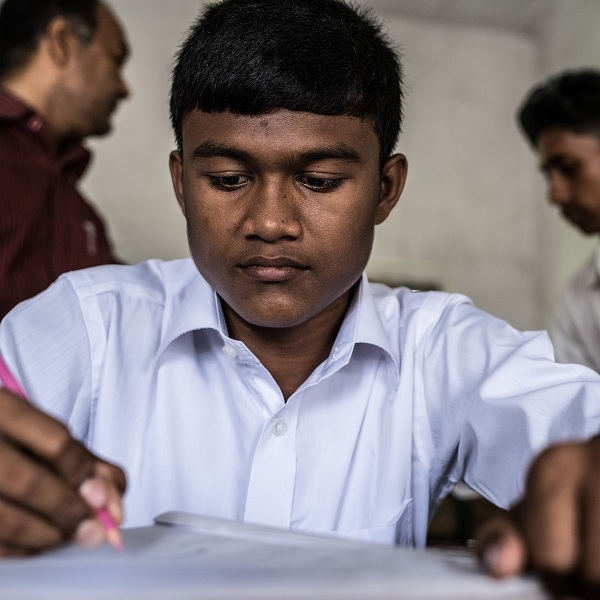 Arefin Hasan, 12, in Bangladesh, who is tutored before and after school, wants to be a scientist and an inventor, and to travel abroad.