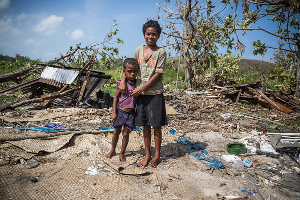 Cyclone Winston destroyed this home in Fiji