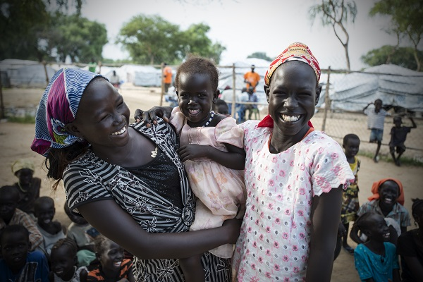 Families are reunited in South Sudan with help from UNICEF.