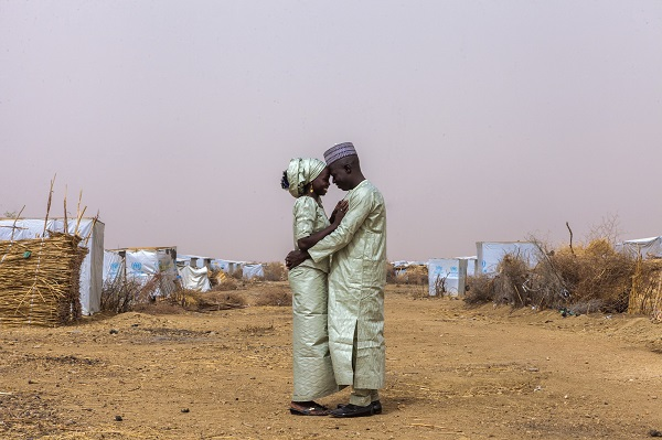 Newlyweds Ibrahim and Hauna married at a camp for Nigerian refugees in Cameroon.
