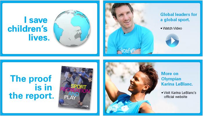 Join Karina Leblanc, Leo Messi and others in support of sport and development programming