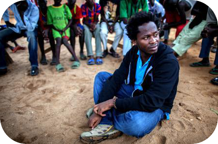 Former African child soldier: Ishmael Beah