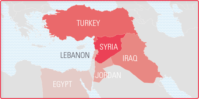 Syria The Most Dangerous Place To Be A Child You Can Help - Map of egypt jordan and syria