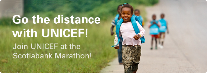 Join Team UNICEF at the Scotiabank Marathon