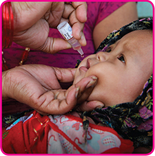 50 cents a day buys 65 life-saving polio vaccines