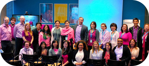 UNICEF Canada staff wear pink shirts to say no to bullying on #PinkShirtDay