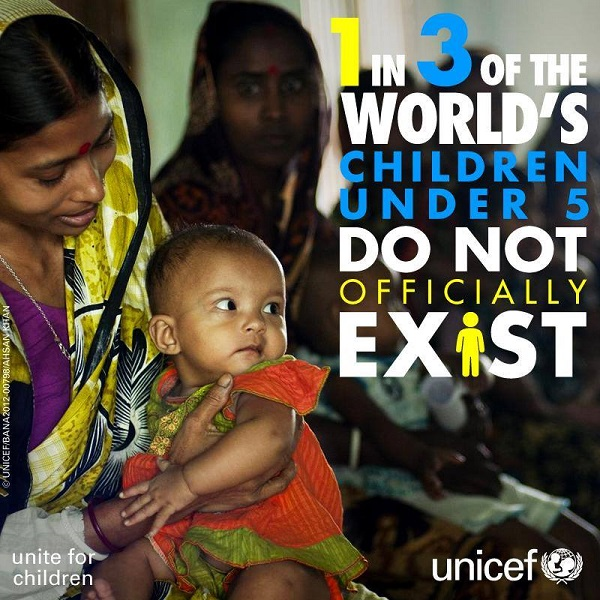 230 Million Children Are Invisible Without Birth