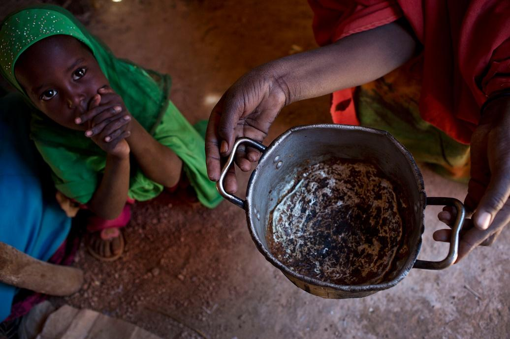 An empty cooking pot in Somalia