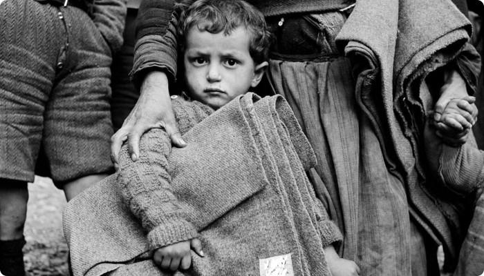 Boy with blanket